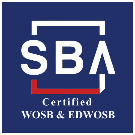 Small Business Administration - SBA logo - certified WOSB & EDWOSB