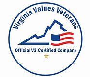 Virginia Values Veterans logo - Official V3 Certified Company
