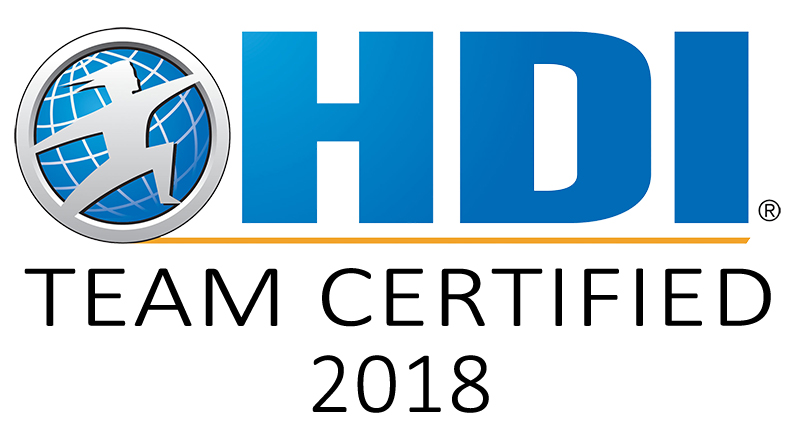 HDI team certified 2018 badge